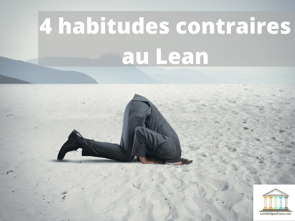 4 habitudes contraires au lean