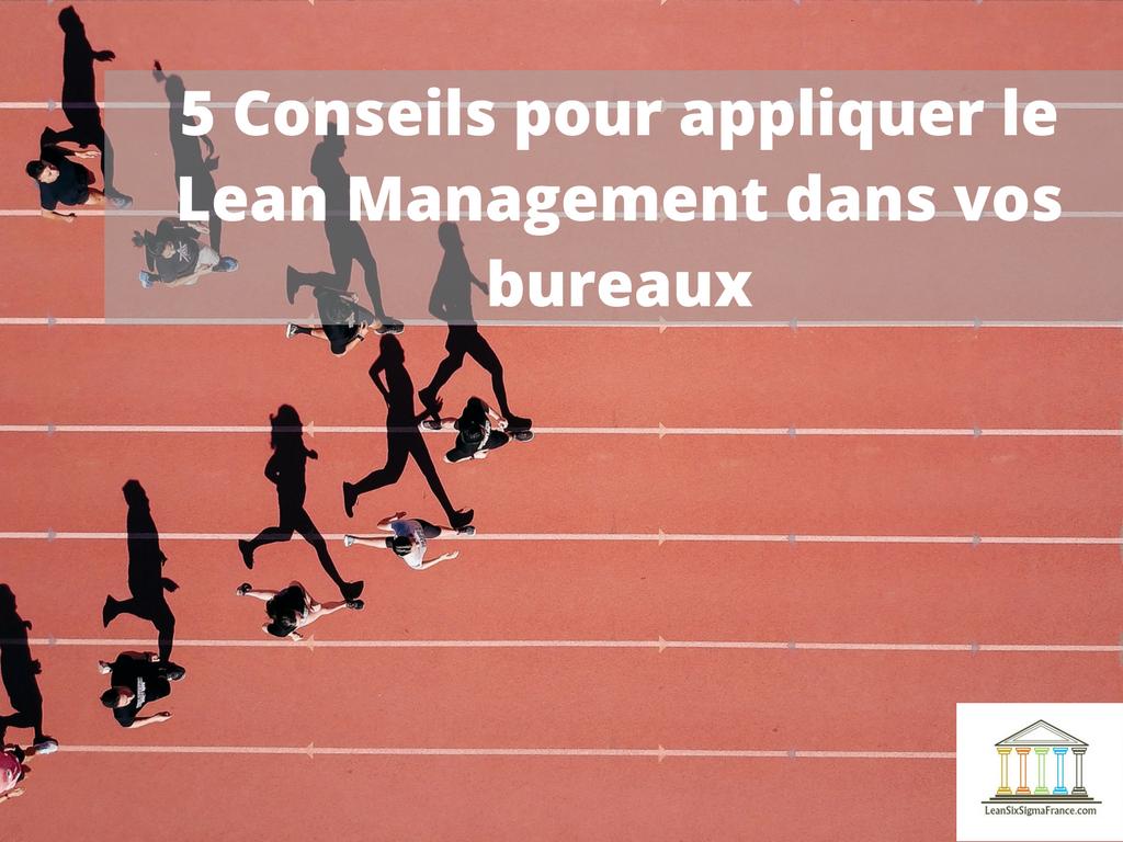 lean management bureaux