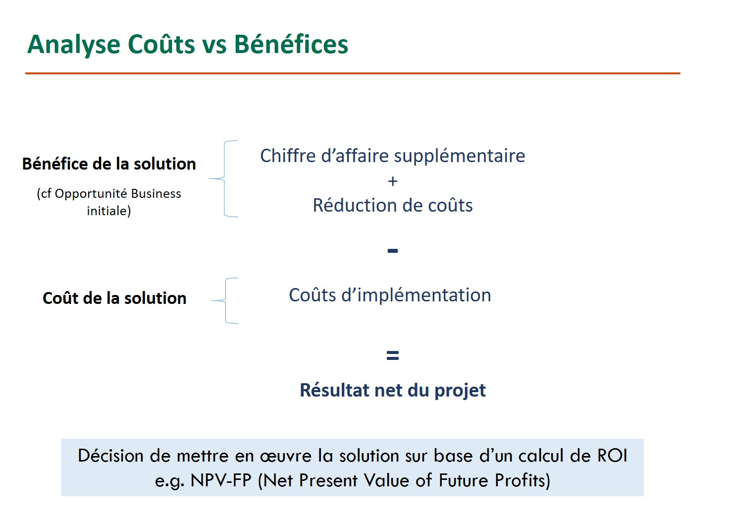 24 Analyse Couts Vs Benefices D Un Projet Lean Six Sigma