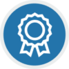Blue Lean Management Training Icon